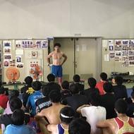 釜利谷高校小中高合同練習終了!。明日はグレコとフリーごとで!(4)
