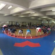 釜利谷高校小中高合同練習終了!。明日はグレコとフリーごとで!(1)